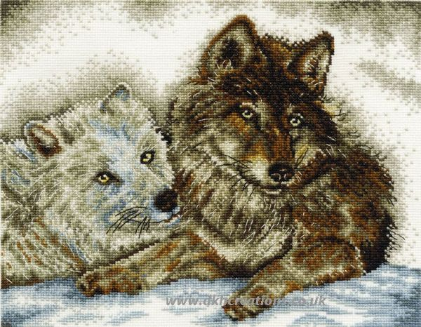 A Tale Of Two Wolves Cross Stitch Kit
